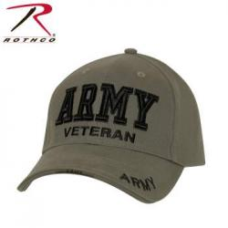 Army Deluxe Low Profile Military Branch Veteran Cap