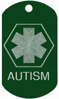 Autism Medical Dog Tag