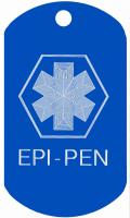 Epi-Pen Medical Dog Tag