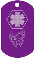 Butterfly Kid Medical Dog Tag