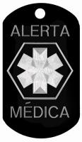 Alerta Medica Engraved Dog Tag