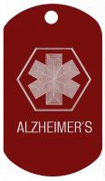 Alzheimers Medical Dog Tag