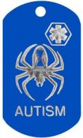 Autism Spider Kid Medical Dog Tag