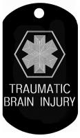 Brain Injury Medical Dog Tag