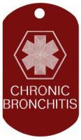 Chronic Bronchitis Medical Dog Tag