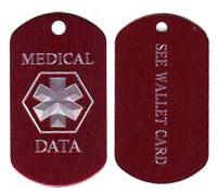 See Wallet Card Medical Dog Tag