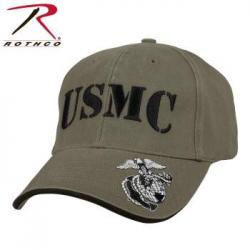 Deluxe Vintage USMC Embroidered Low Pro Cap Olive Drab